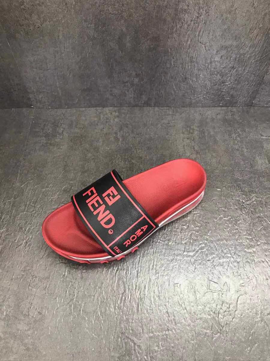 Dép Fendi nam siêu cấp đỏ chữ đen DFD05
