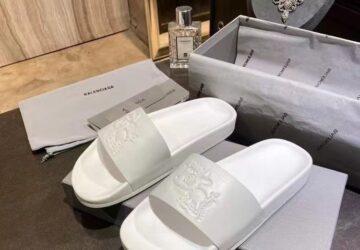 Dép Balenciaga nam siêu cấp họa tiết động vật màu trắng DBL15