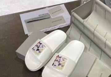 Dép Balenciaga nam siêu cấp màu trắng họa tiết thú cưng DBL11
