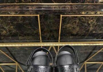 Dép Dior nam siêu cấp sandal họa tiết quai dập logo chìm DDR38