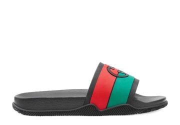 Dép Gucci nam like au quai ngang họa tiết logo lồng xanh đỏ DGC27