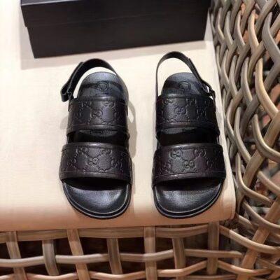Dép Gucci nam siêu cấp sandal họa tiết logo dập DGC62