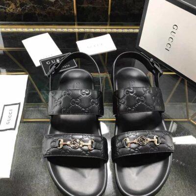 Dép Gucci nam siêu cấp sandal họa tiết logo khóa nhỏ DGC57