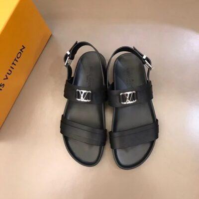 Dép nam Louis Vuitton siêu cấp sandal họa tiết logo nhỏ DLV88